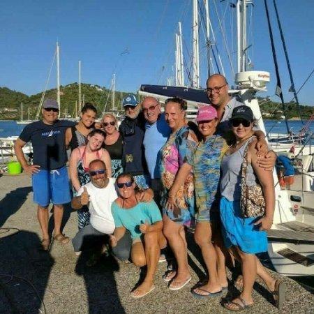 Ciudad de Skiathos, Grecia: good friends from last year!
