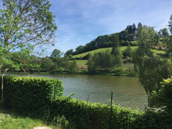 Matour, France: Vue sur l'étang