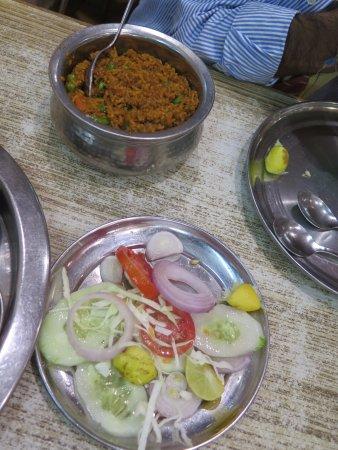 Bharawan Da Dhaba: Veggie biryani and salad