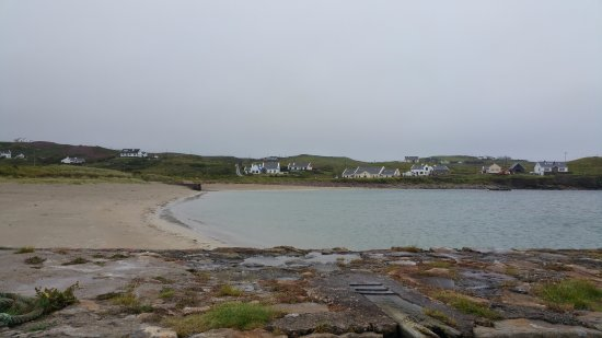 Clare Island beach beside harbour, great for swimming and kiddies