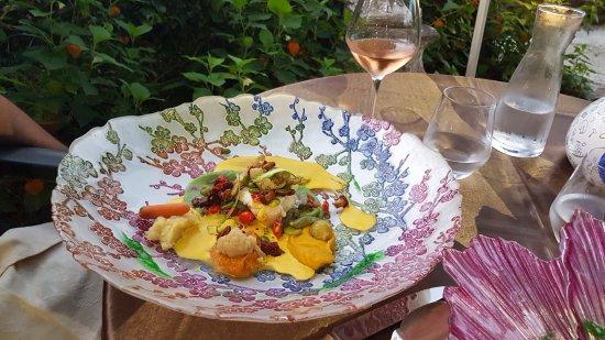 """Saint-Saud-Lacoussiere, ฝรั่งเศส: menu """"les idées du moment"""""""