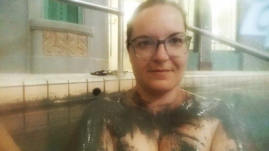 Danubius Health Spa Irma: in the mud pool