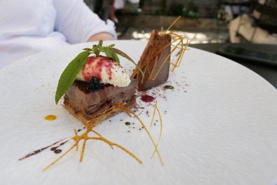 Seguret, France: dessert chocolat
