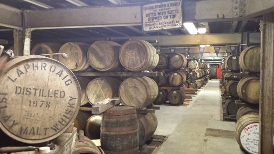 Bridgend, UK: warehouse Laphroaig