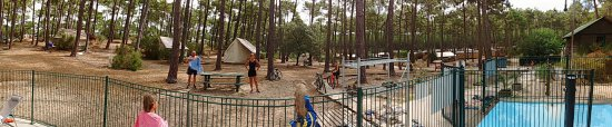 Carcans, França: vue de la piscine sur les mobilhomes