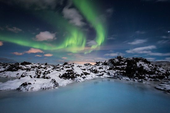 Grindavik, Islandia: Blue Lagoon Iceland northern lights