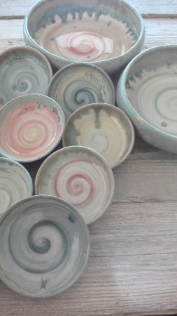 Spinspot Ceramics Pottery Swirly Bowls