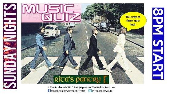 Redcar, UK: Music quiz every Sunday