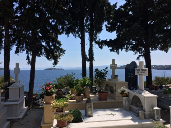 Skiathos Town, Greece: Vista sul Mar Egeo