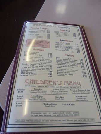 Milpitas, CA: 朝食メニュー2