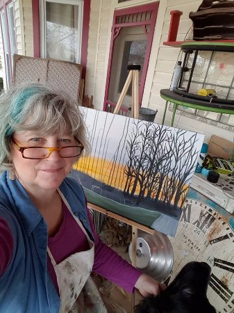 Nashville, IN: Most days you can find me painting and creating on my porch