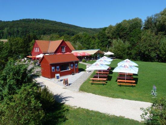 Happurg, Германия: Café Restaurant Seeterrassen - der Kiosk verspricht uneingeschränkten Seeblick :-)