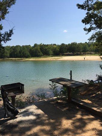 Calhoun Falls State Park: beach area from picnic area