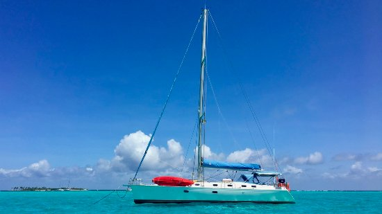 Road Town, Tortola: SY Nemo at BlueFoot Travel anchored in Tobago Cays