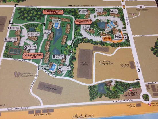 Coral Sands Resort: Map of resort area. We were in coral sands north.