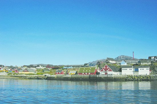 Old harbor of Nuuk including the museum