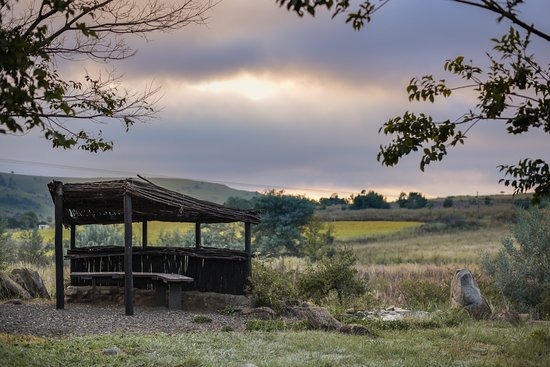 Lydenburg, South Africa: Birdhide ovelooking the wetland