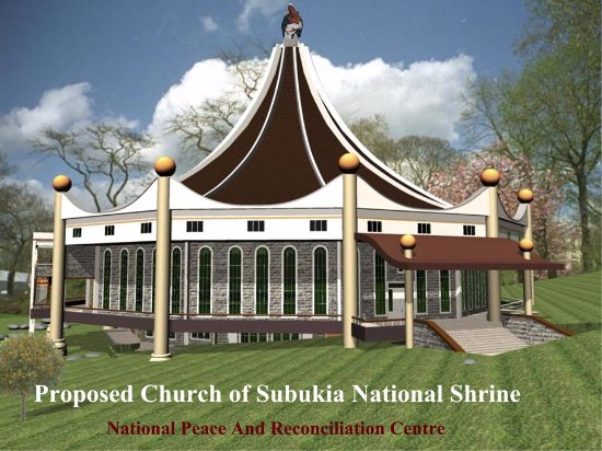 Nyahururu, Kenia: This is the Shrine Church ON Construction
