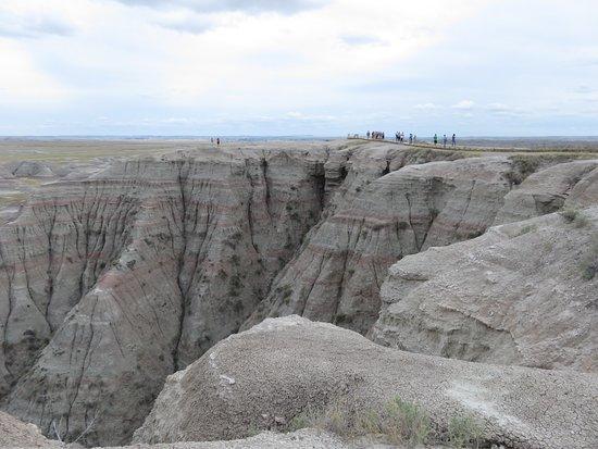 Interior, SD: Rock formations in Badlands NP.