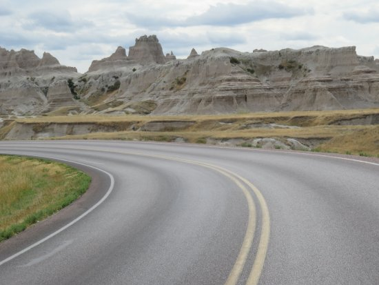 Interior, SD: View along 27 mile loop in Badlands NP.