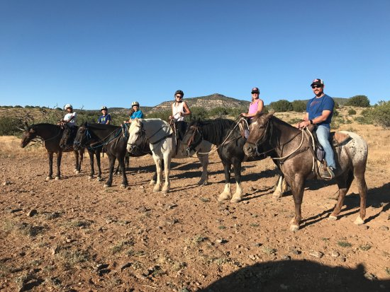 M Diamond Ranch - half of our group on horses