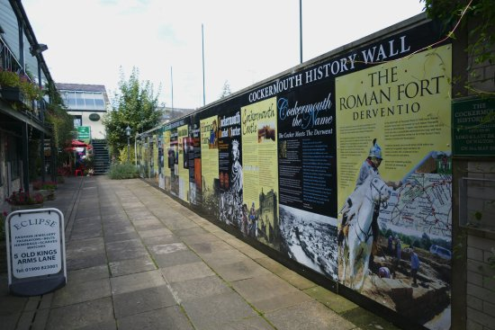 ‪Cockermouth History Wall‬