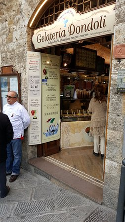 San Gimignano 1300: The best Gelateria in all of San Gimignano, Italy, in the center of the walled city.