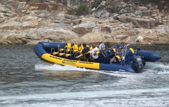 Ribadesella, Espagne : Nuestra semirrigida con capacidad para 12 personas mas la tripulación.