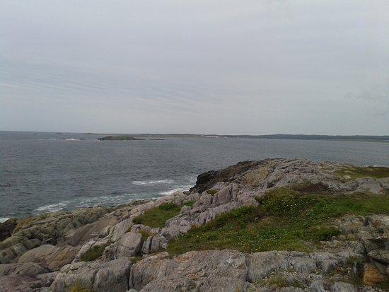 Louisbourg, Canada: Magnifique vue sur les rochers.
