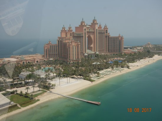 Atlantis, The Palm: Hotel view from helicopter