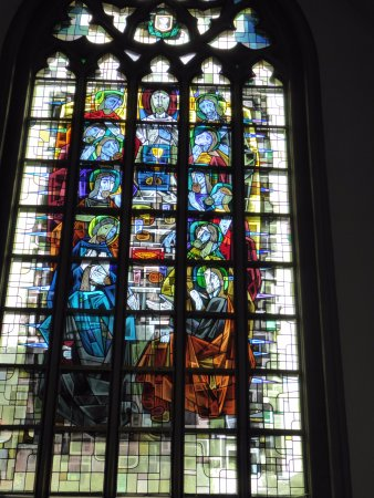 Sint-Truiden, Belgium: modern stained glass window