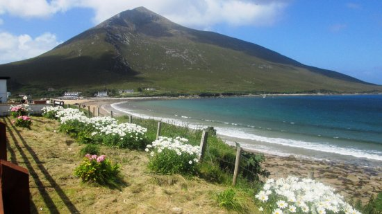 Dugort beach. Achill Island has the highest cliffs in Europe!