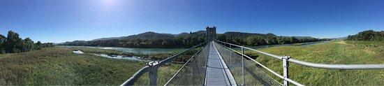 Rochemaure, ฝรั่งเศส: La Passerelle Himalayenne (Le Vieux Pont)