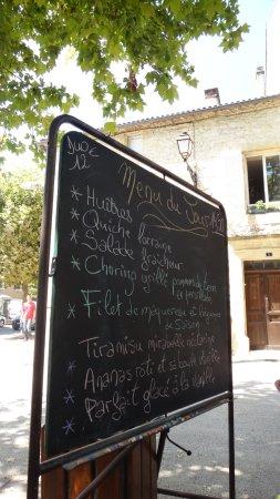 Prayssac, فرنسا: Le menu du jour.