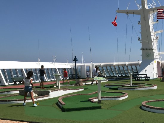 Mini Golf On Carnival Picture Of Port Canaveral Port Canaveral