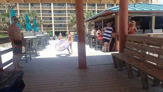 The Island By Hotel Rl Bar Area Out Beach Ocean At
