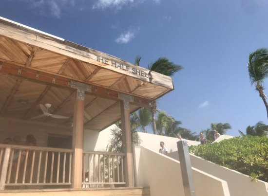 West End Village, Anguilla: half shell beach bar - must go!
