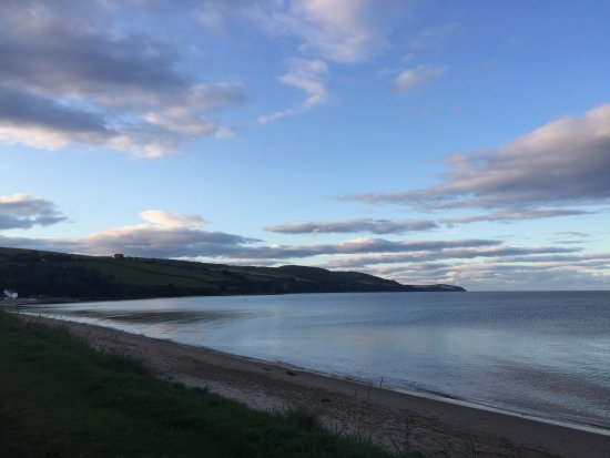 Rosemarkie, UK: View from motorhome.
