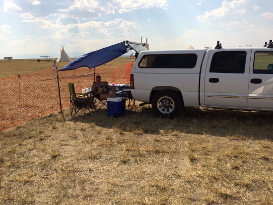Wind River Casino: Camping in the Field next to the Casino for 2017 Eclipse
