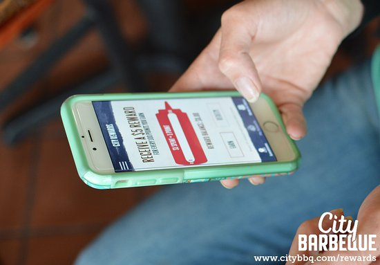 City Barbeque: Want free stuff? Download our app!