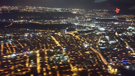 Turkish Airlines: View over Manila