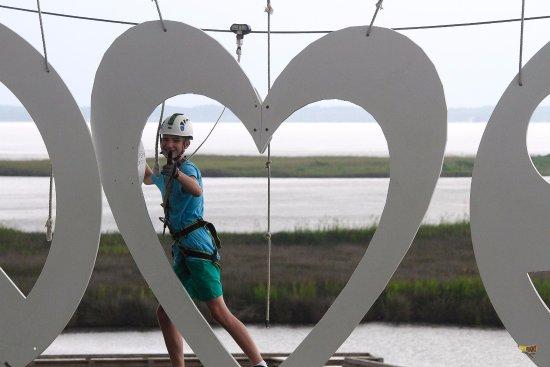 First Flight Adventure Park: Climbing LOVE!