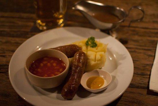 The Green Man Pub & Restaurant: Bangers and Mash