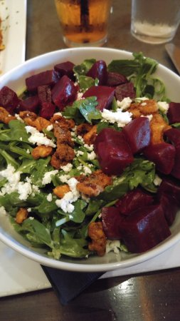 Door 222 Food & Drink: Beet Salad with goat cheese and pecans