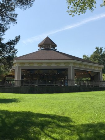 Miniature Train and Carousel at Wheaton Regional Park: The view of the Carousel from picnic area