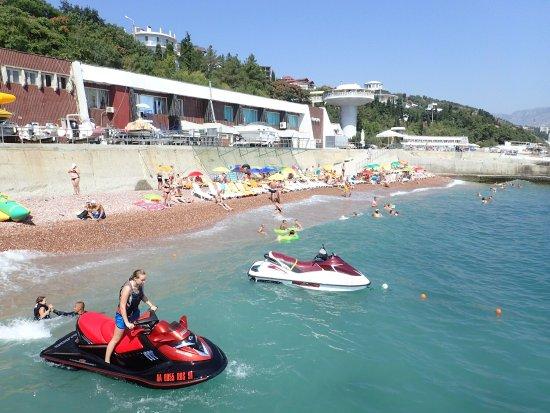 Villa Alina: Пляж отеля Вилла Алина