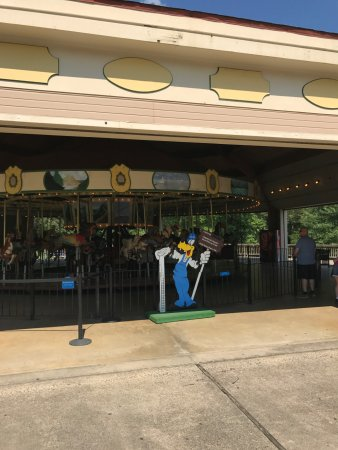 Miniature Train and Carousel at Wheaton Regional Park: Riding the carousel while waiting for lunch or for train
