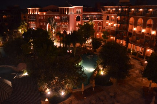 The Grand Resort Hurghada: Evening view from room 5216.