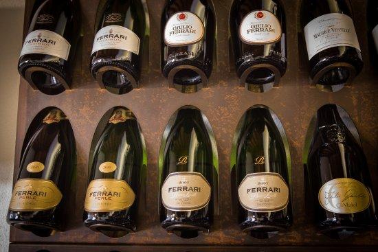 In Vinis Veritas: Vista ravvicinata di alcune bottiglie esposte.