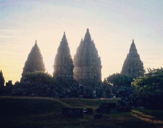 Prambanan Temples: Sonnenuntergang